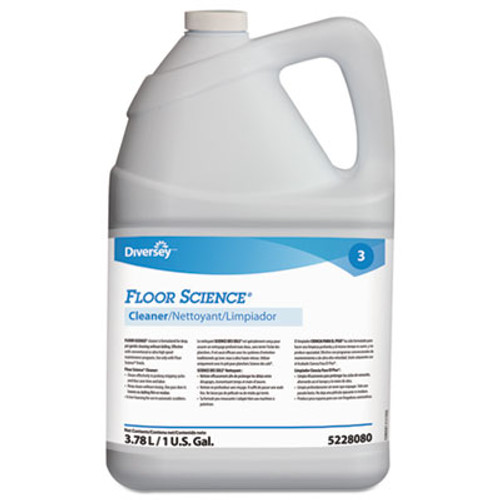 Floor Science Cleaner, 1gal Bottle, 4/Carton (DVO95228080CT)