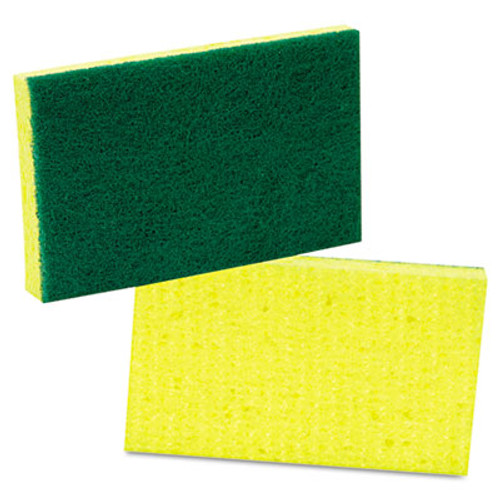Scotch-Brite PROFESSIONAL Medium-Duty Scrubbing Sponge, 3 1/2 x 6 1/4, Yellow/Green, 20/Carton (MMM74)