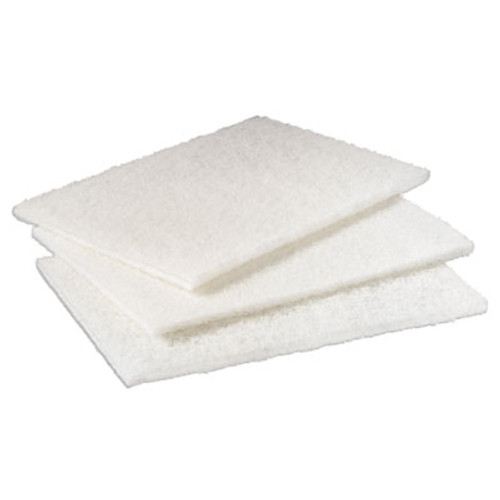 "Scotch-Brite PROFESSIONAL Light Duty Cleansing Pad, 6"" x 9"", White, 20/Pack, 3 Packs/Carton (MMM98)"