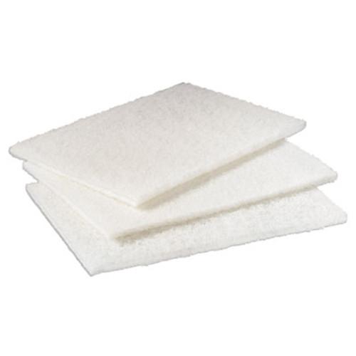 "Scotch-Brite PROFESSIONAL Light Duty Cleansing Pad, 6"" x 9"", White, 20/Pack, 3 Packs/Carton (MMM98)"