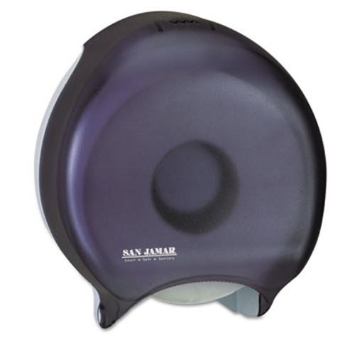 San Jamar Single-Roll Jumbo Bath Tissue Dispenser, 10 1/4 x 5 5/8 x 12, Black Pearl (SJMR2000TBK)