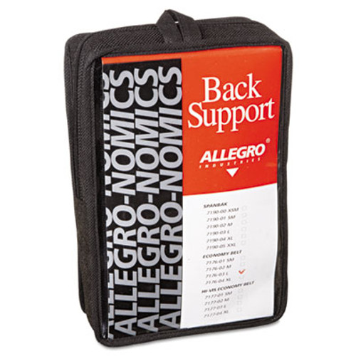Allegro Economy Back Support Belt, Large, Black (ALG717603)