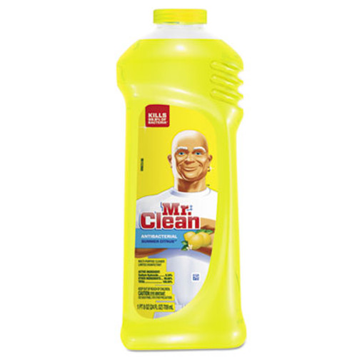 Mr. Clean Multi-Surface Antibacterial Cleaner, Summer Citrus Scent, 24 oz Bottle, 9/Carton (PGC82707CT)