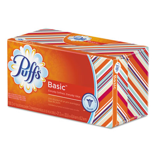 Puffs White Facial Tissue, 2-Ply, 180 Sheets, (PGC87611CT)