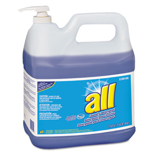 All HE Liquid Laundry Detergent, Original Scent, 2gal Pump Bottle, 2/Carton (DVO95769100)