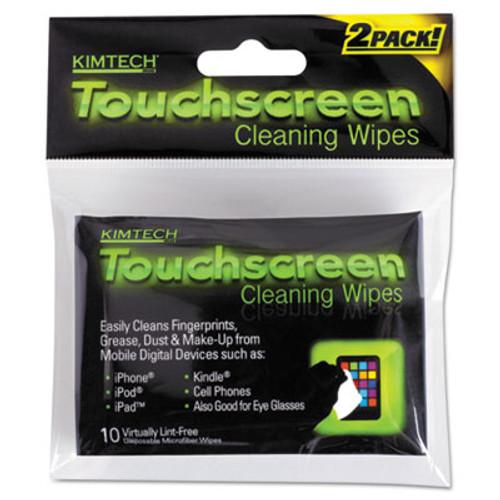 Kimtech* Disposable Wipes, 3 1/10 x 3 9/10, White, 10 Wipes/Pouch, 12 Pouches/Bx, 4 Bx/Ct (KCC25932CT)