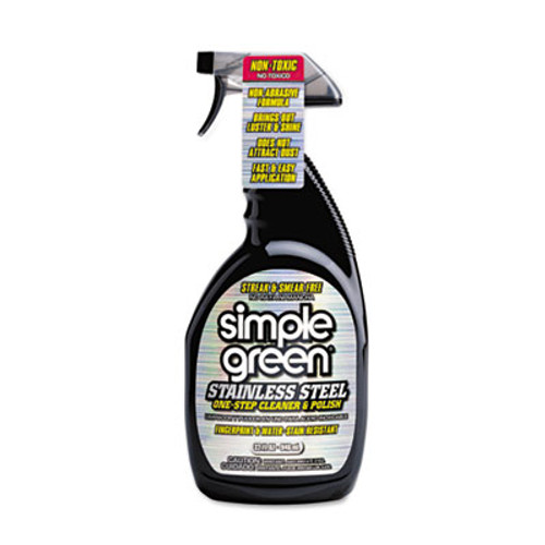 Simple Green Stainless Steel One-Step Cleaner & Polish, 32oz Spray Bottle (SMP18300CT)