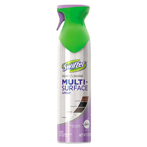 Swiffer Dust & Shine Furniture Polish, Lavender Vanilla Scent, 9.7 oz Aerosol, 6/Carton (PGC81618CT)