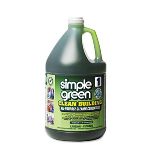 Simple Green Clean Building All-Purpose Cleaner Concentrate, 1gal Bottle, 2 per Carton (SMP11001CT)