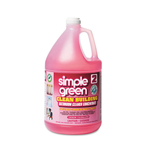 Simple Green Clean Building Bathroom Cleaner Concentrate, Unscented, 1gal Bottle (SMP11101CT)