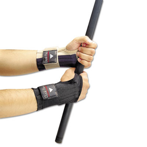 Allegro Dual-Flex Wrist Supports, Large, Nylon, Black (ALG721203)