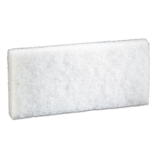 """3M Doodlebug Scrub Pad, 4.6"""" x 10"""", White, 5/PK, 4 PK/CT (MMM08003)"""