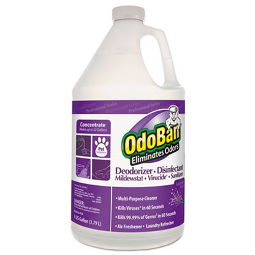OdoBan Concentrated Odor Eliminator, Lavender Scent, 1gal Bottle, 4/CT (ODO911162G4)