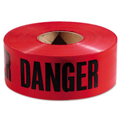 """Empire Danger Barricade Tape, """"Danger"""" Text, 3"""" x 1000ft, Red/Black (EML771004)"""