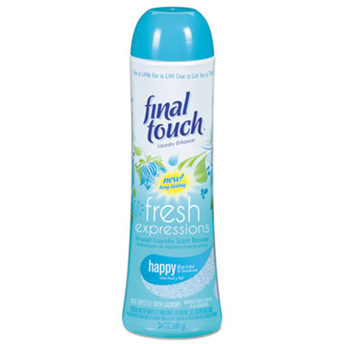 Final Touch Fresh Expressions In-Wash Laundry Scent Booster, 24 oz, Powder, Blue Lotus, 6/CT (PBC58221CT)
