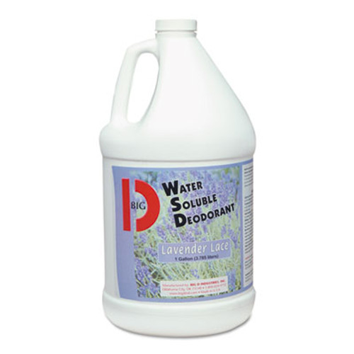 Big D Industries Water-Soluble Deodorant, Lavender Lace, One Gallon Bottle, 4/Carton (BGD1614)