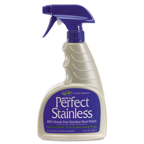 Hope's Perfect Stainless Stainless Steel Cleaner and Polish, 22oz Bottle (HOC22PS6)