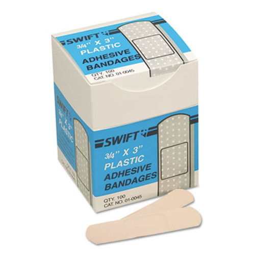 "Swift Adhesive Bandages, 3/4"" x 3"", Plastic (SWF010045)"