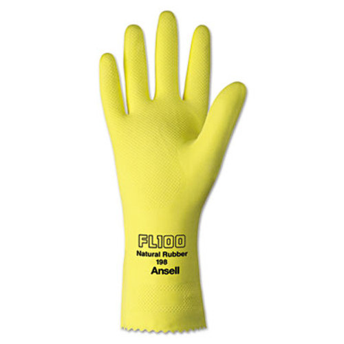 AnsellPro Unsupported Latex Gloves, Size 10, Light Duty (ANS19810)