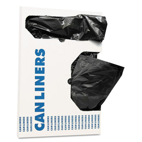 "AccuFit Can Liners, 16 gal, 1 mil, Black, 24"" x 32"", 250/Carton (HERH4832TKX01)"