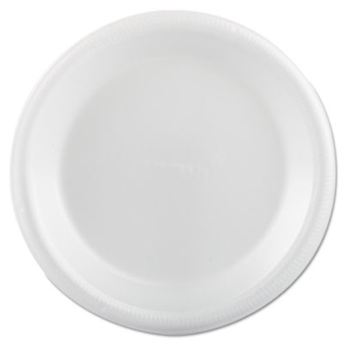 "Plastifar Foam Dinnerware, Plate, 9"", White (PST12003)"