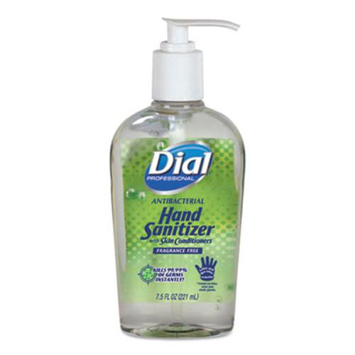 Dial Antibacterial Gel Hand Sanitizer with Moisturizer, 7.5 oz, Pump, Fragrance-Free (DIA01585EA)