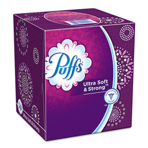 Puffs Ultra Soft Facial Tissue, Two-Ply, White, 56 Sheets/Box (PGC35038BX)