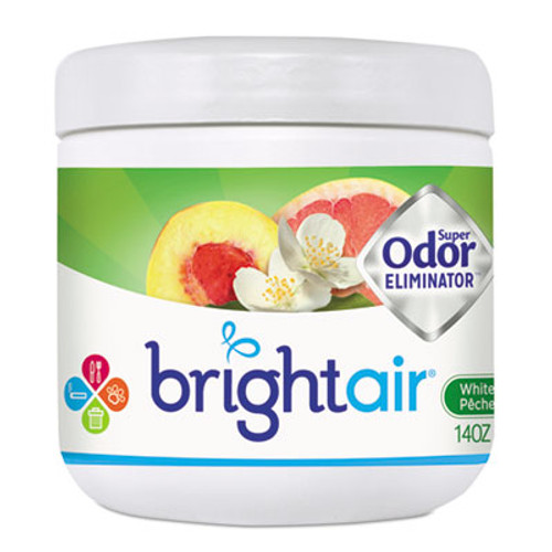 BRIGHT Air Super Odor Eliminator, White Peach and Citrus, 14oz (BRI900133)