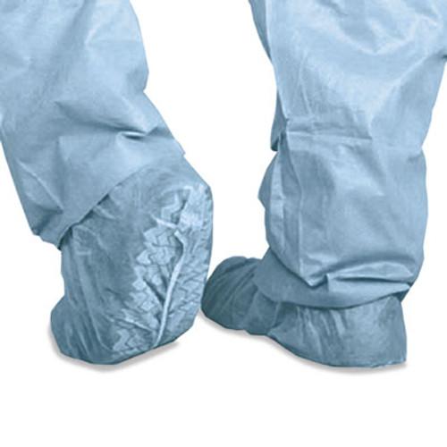 Medline Polypropylene Non-Skid Shoe Covers, Large, Blue, 100/Box (MIICRI2002)