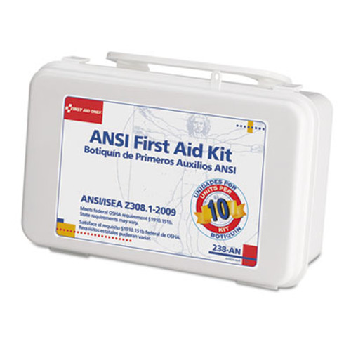 First Aid Only ANSI-Compliant First Aid Kit, 64 Pieces, Plastic Case (FAO238AN)