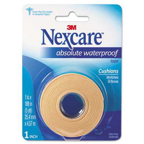"3M Nexcare Absolute Waterproof First Aid Tape, Foam, 1"" x 180"" (MMM731)"