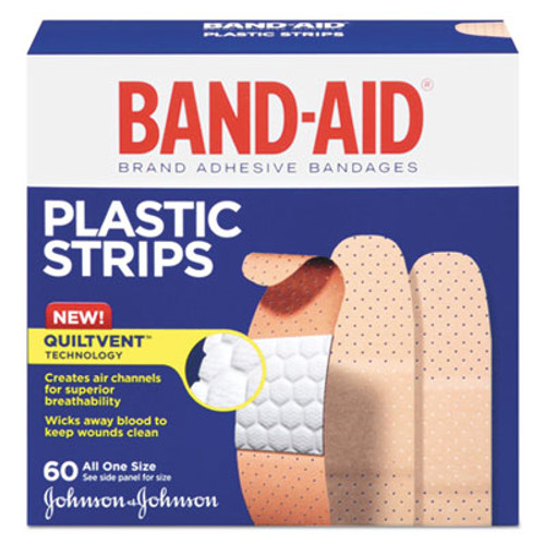 BAND-AID Plastic Adhesive Bandages, 3/4 x 3, 60/Box (JOJ100563500)