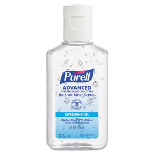 PURELL Advanced Instant Hand Sanitizer Gel, 1 oz Bottle, Lemon Scent, 250/Case (GOJ39012C250)