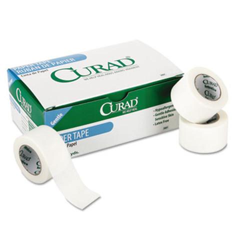 "Curad Paper Adhesive Tape, 1"" x 10 yds, White, 12/Pack (MIINON270001)"