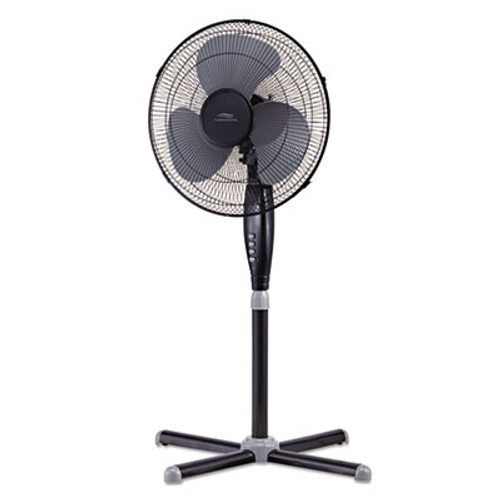 "Lakewood 16"" Three-Speed Oscillating Pedestal Fan, Three Speed, Metal/Plastic, Black (LAKLSF1610CBM)"