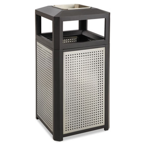 Safco Ashtray-Top Evos Series Steel Waste Container, 38gal, Black (SAF9935BL)