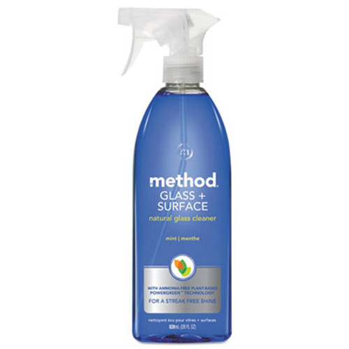 Method Glass and Surface Cleaner, Mint, 28 oz Bottle (MTH00003)