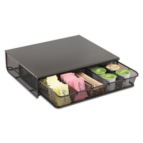 Safco One Drawer Hospitality Organizer, 5 Compartments, 12 1/2 x 11 1/4 x 3 1/4, Bk (SAF3274BL)