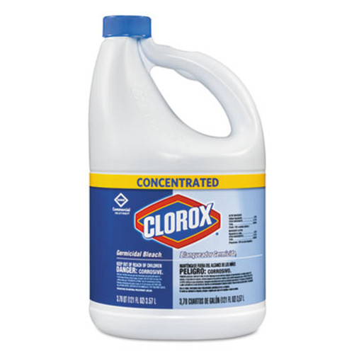 Clorox Concentrated Germicidal Bleach, Regular, 121oz Bottle (CLO30966EA)