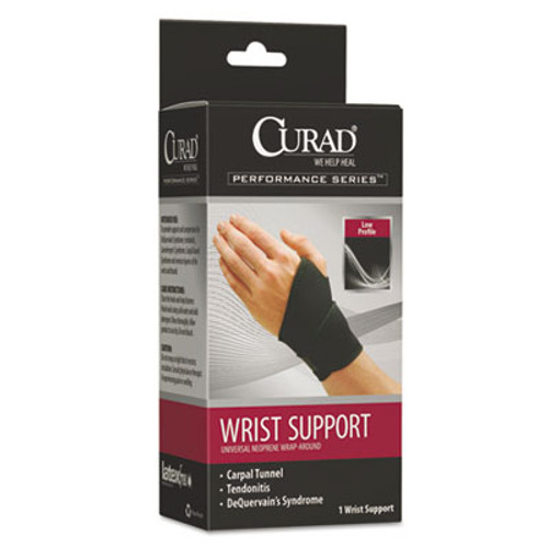 Curad Performance Series Wrist Support, Adjustable, Black (MIIORT19700D)