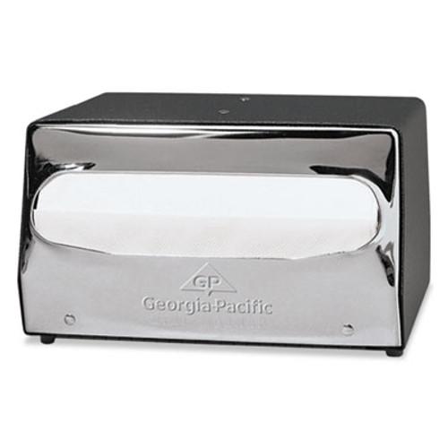 Georgia Pacific MorNap Tabletop Napkin Dispenser, 7 1/2 x 6 x 4 3/8, Black/Chrome (GPC51202CT)
