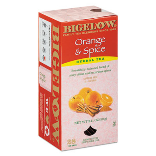 Bigelow Orange and Spice Herbal Tea, 28/Box (BTC10398)