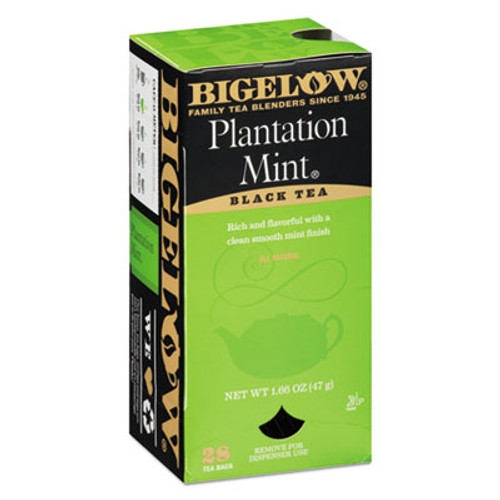 Bigelow Plantation Mint Black Tea, 28/Box (BTC10344)
