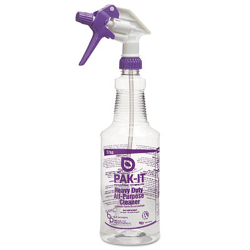 PAK-IT Empty Color-Coded Trigger-Spray Bottle, 32 oz,for Heavy-Duty All Purpose Cleaner (BIG574420004012)