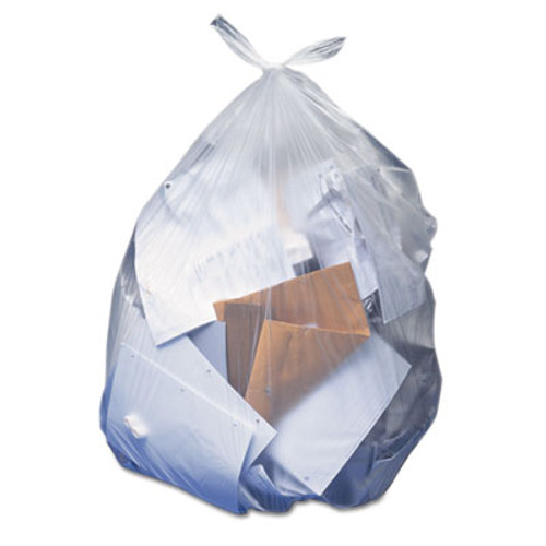 Heritage Low-Density Can Liners, 10 gal, 0.35 mil, 23 x 25, Clear, 500/Carton (HERH4823RC)