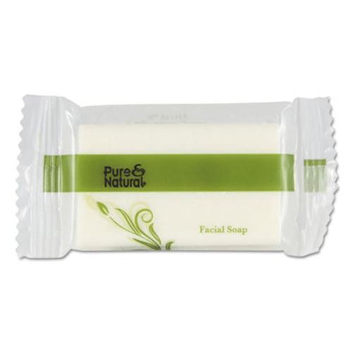 Pure & Natural Body & Facial Soap, # 3/4, Fresh Scent, White 1000/Carton (PNN500075)