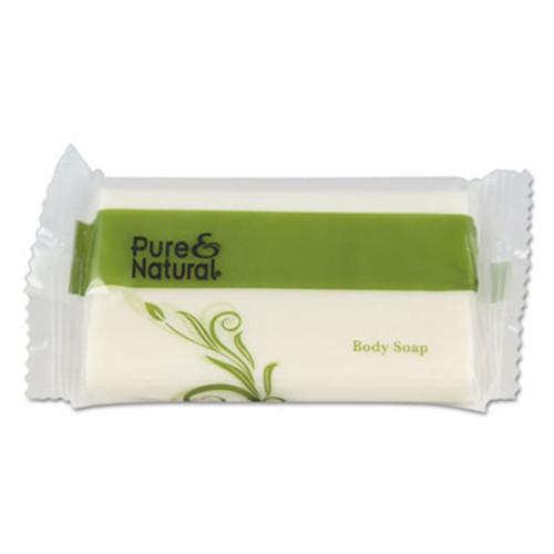 Pure & Natural Body & Facial Soap, # 1 1/2, Fresh Scent, White, 500/Carton (PNN500150)