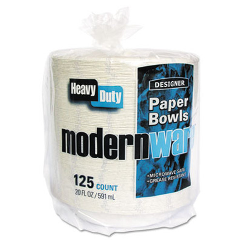 AJM Packaging Corporation Modernware Roman Holiday Dinnerware, Bowl, 20oz, White, 125/Pack, 2 Packs/Carton (AJMDB20MWARH)