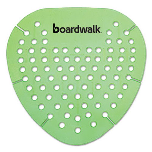 Boardwalk Gem Urinal Screen, Lasts 30 Days, Green, Herbal Mint Fragrance, 12/Box (BWKGEMHMI)
