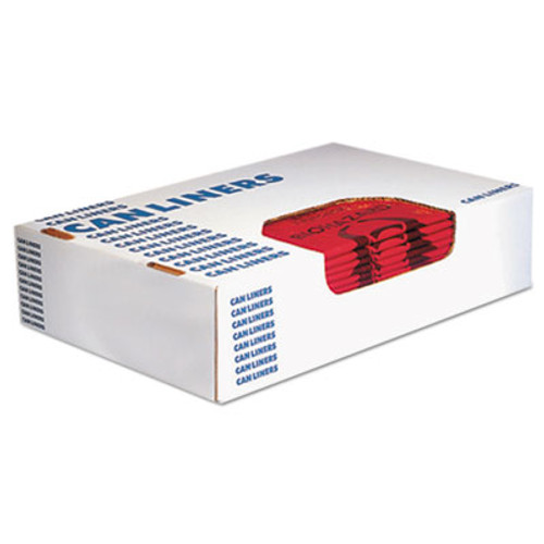 Heritage Healthcare Biohazard Printed Can Liners, 8-10 gal, 1.3mil, 24 x 23, Red,500/CT, (HERA4823PR)